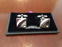 Mens Trendy Diamond Cufflinks, Bond Real Diamonds, Brand New Never worn, Great Present