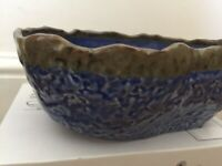 IKEA ANNANSTANS Handcrafted Limited Edition Artisan Blue BOWL 25x18x10cm