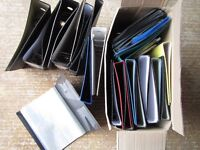20 A4 Lever Arch Files, 8 Presentation Folders, 7 A3 zip carry cases & other folders