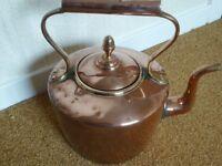 Victorian large copper kettle
