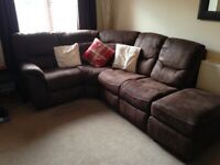 Corner brown flux sofa