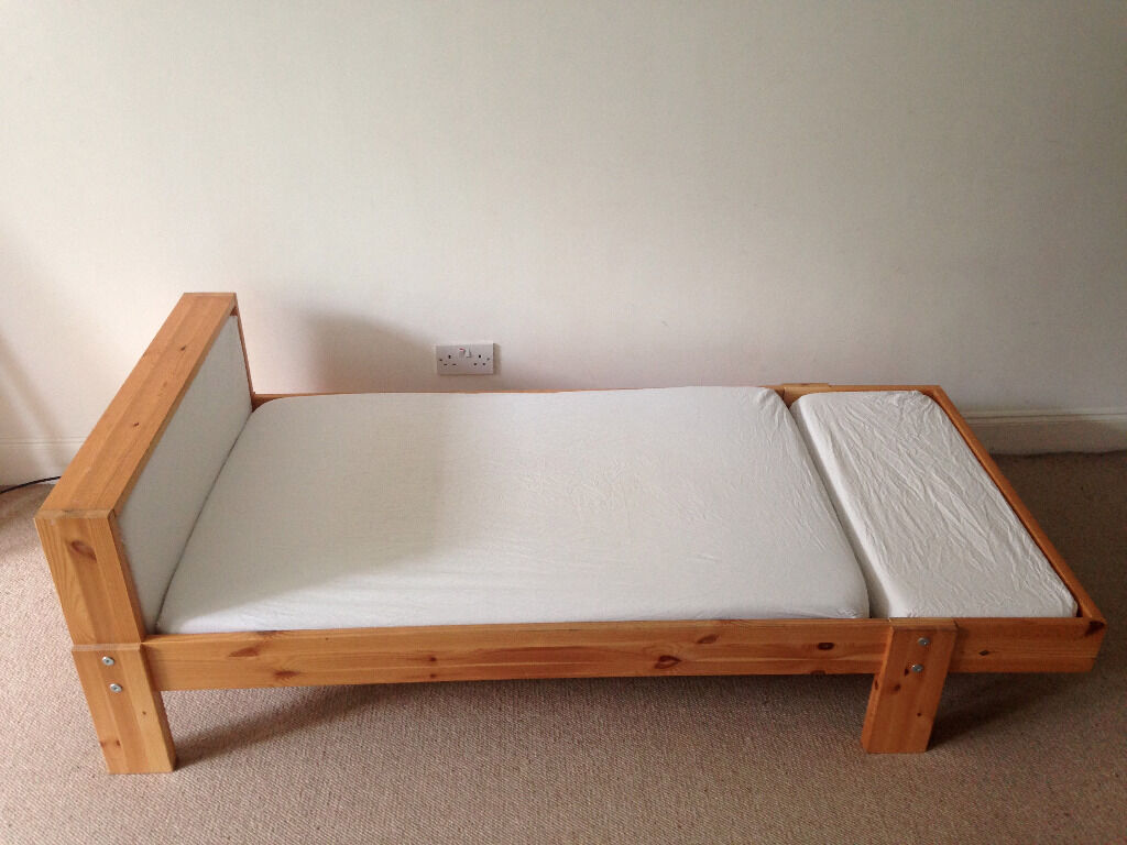 child toddler extendable wooden single bed ikea vikare model in west end glasgow gumtree. Black Bedroom Furniture Sets. Home Design Ideas