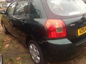toyota corolla 2004 manual 1.4 excellent condition new mot drives well inspection welcome