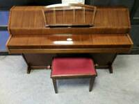 Wonderful Mahogany 'Eavestaff Mini Royal' Upright Piano & Stool - CAN DELIVER