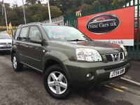 2004 54 Nissan X-Trail 2.5 i SVE Automatic Petrol Sat Nav Leather Low Miles One Owner 4x4