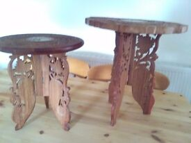 2 Decorative wooden plant stands.