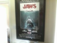 Movie posters all Framed.