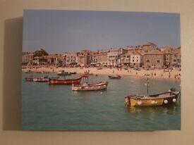 Canvas photo - St. Ives harbour – 40 x 30 cm – great Christmas present
