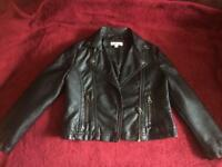 Bluezoo faux leather jacket age 5
