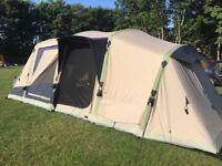 Fabulous Zempire poly cotton/ polycotton air tent sleeps 5 - used twice