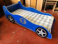 Full Size Single Car Bed With Mattress