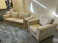 GORGEOUS DFS FABRIC SOFA SET IN EXCELLENT CONDITION