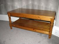 2 Ducal Victoria Pine coffee tables.