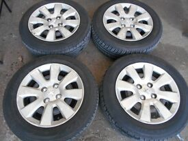 "15"" ORIGINAL PEUGEOT WHEELS / TYRES"