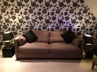 Exceptional Hand Made Sofabed, Matching Lounge Chairs