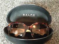 Ralph Lauren tortoise sunglasses in case