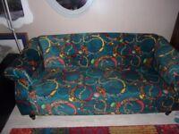 Stunning soft velvet three seat sofa immaculate