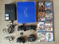 Playstation 2 Console, 8 Games, 3 Controllers, Multitap & 2 8mb Memory Cards