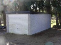 "For sale ""Crofton"" pre cast concrete garage"