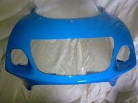 gsxr srad 600 750 front nose cone\ fairing ( rizla blue ).