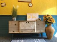 Mid Century Formica Sideboard / Cocktail Cabinet