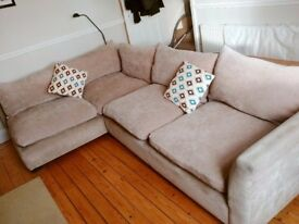 Barker & Stonehouse corner sofa beige/sand right hand facing