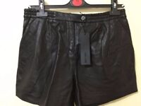 Totally new KARL 100% GEUINE leather shorts With tag only £40