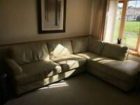 Leather left hand corner sofa (cost £3400) can deliver