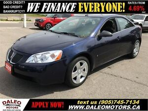 2009 Pontiac G6 SE 82 KM 2.4 L NO CREDIT CHECK LEASES