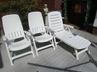 One loungers and two chairs