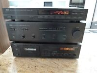Yamaha stereo equipment - amplifier, tape cassette deck and tuner