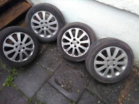 Vauxhall Alloy Wheels 16 inch Set of Four with R16 tyres 205/55/R16