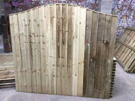 Omega too feather edge fence panels pressure treated