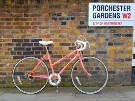 Cutest vintage racing bike ever? Pink 1990 Raleigh Chloe