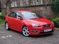 FINANCE AVAILABLE!! 57 REG RED FORD FOCUS 2.5 SIV ST-2 5RD, LONG MOT, 1 FORMER KEEPER, AA WARRANTY