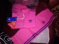 BRAND NEW WITH TAGS, HOODED ADIDAS TRACKSUIT.baby /toddler