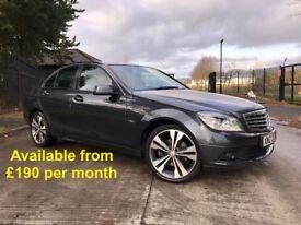 Mercedes C250 (C220 320d A3 A4 330d Golf Jetta Passat) £190 per month