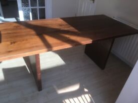 Oak style Dining Room table.