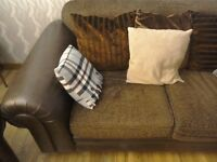 2 two seat leather sofas. Very good condition. Any reasonable price accepted.