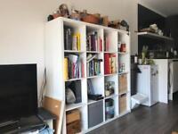 Ikea Kallax shelving unit. 16 shelf. White