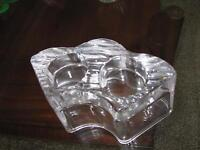 Party lite glass tea light holder
