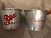 Old vintage buckets