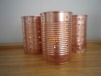 Decorations for Weddings/Parties - Copper Candle Holders x10