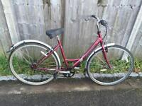 Raleigh Caprice Ladies Town Bike. Serviced, Free Lock, Lights, Delivery
