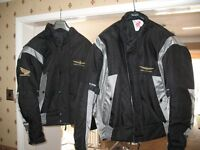 Honda Goldwing jackets L & XL as new