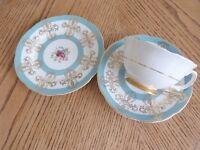 Royal Grafton fine bone china. Tea cup, saucer and side plate. 1956+
