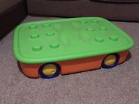 Large underfed storage box on wheels - great for Lego!