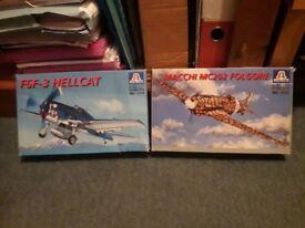 WWII model fighters - Hellcat & Macchi 202 - Italeri 1:72