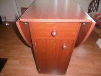 Butterfly oval folding table