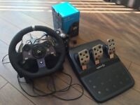 Xbox One - Logitech G920 Steering Wheel + Pedals + NEW Boxed Shifter